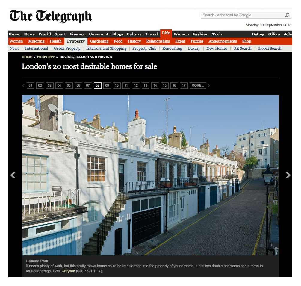 The Telegraph_Holland Park Mews